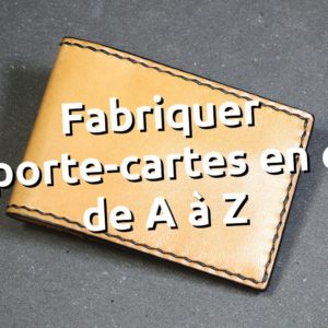 cours fabriquer porte carte volets cousu main au point sellier