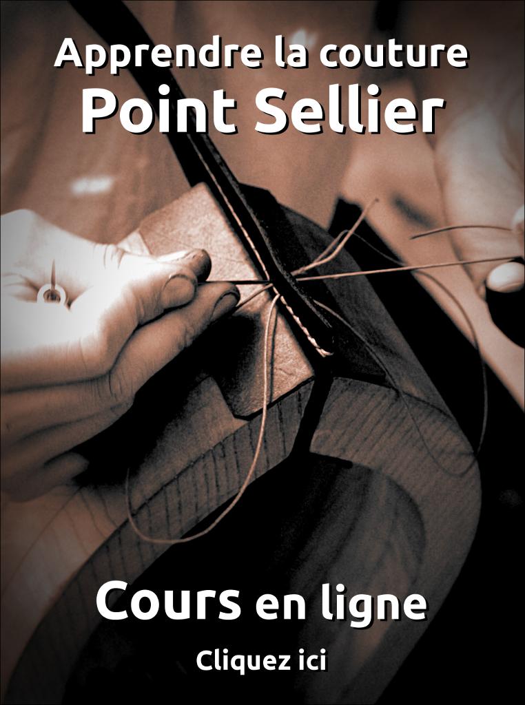 Cours en ligne - apprendre maroquinerie et travail du cuir