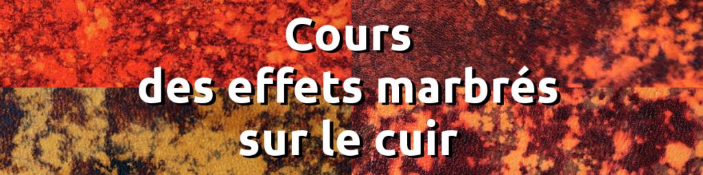 Cours en ligne teinture effet marbré - apprendre maroquinerie et travail du cuir